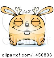 Clipart Graphic Of A Cartoon Sleeping Jackalope Character Mascot Royalty Free Vector Illustration