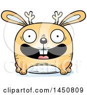Clipart Graphic Of A Cartoon Smiling Jackalope Character Mascot Royalty Free Vector Illustration