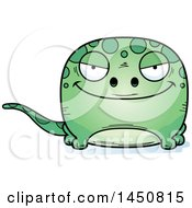 Clipart Graphic Of A Cartoon Sly Gecko Character Mascot Royalty Free Vector Illustration