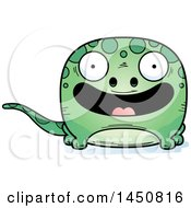 Clipart Graphic Of A Cartoon Smiling Gecko Character Mascot Royalty Free Vector Illustration