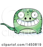 Clipart Graphic Of A Cartoon Grinning Gecko Character Mascot Royalty Free Vector Illustration by Cory Thoman