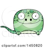 Clipart Graphic Of A Cartoon Happy Gecko Character Mascot Royalty Free Vector Illustration