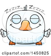 Clipart Graphic Of A Cartoon Sleeping Duck Character Mascot Royalty Free Vector Illustration