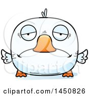Clipart Graphic Of A Cartoon Sad Duck Character Mascot Royalty Free Vector Illustration by Cory Thoman