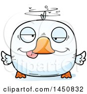 Clipart Graphic Of A Cartoon Drunk Duck Character Mascot Royalty Free Vector Illustration by Cory Thoman