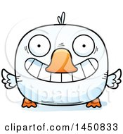 Clipart Graphic Of A Cartoon Grinning Duck Character Mascot Royalty Free Vector Illustration by Cory Thoman