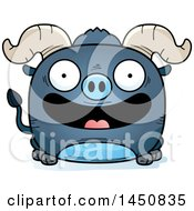 Clipart Graphic Of A Cartoon Smiling Blue Ox Character Mascot Royalty Free Vector Illustration