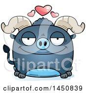 Cartoon Loving Blue Ox Character Mascot