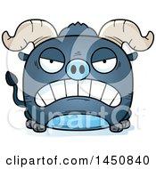 Cartoon Mad Blue Ox Character Mascot