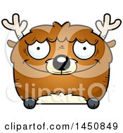 Clipart Graphic Of A Cartoon Happy Deer Character Mascot Royalty Free Vector Illustration by Cory Thoman