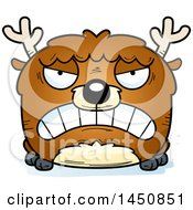Clipart Graphic Of A Cartoon Mad Deer Character Mascot Royalty Free Vector Illustration by Cory Thoman