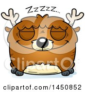 Clipart Graphic Of A Cartoon Sleeping Deer Character Mascot Royalty Free Vector Illustration by Cory Thoman