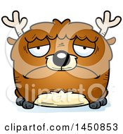 Clipart Graphic Of A Cartoon Sad Deer Character Mascot Royalty Free Vector Illustration by Cory Thoman