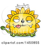 Clipart Graphic Of A Cartoon Drunk Dandelion Character Mascot Royalty Free Vector Illustration