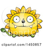 Clipart Graphic Of A Cartoon Happy Dandelion Character Mascot Royalty Free Vector Illustration