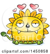Clipart Graphic Of A Cartoon Loving Dandelion Character Mascot Royalty Free Vector Illustration