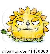 Clipart Graphic Of A Cartoon Sly Dandelion Character Mascot Royalty Free Vector Illustration
