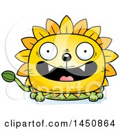 Clipart Graphic Of A Cartoon Smiling Dandelion Character Mascot Royalty Free Vector Illustration