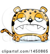 Clipart Graphic Of A Cartoon Sad Leopard Character Mascot Royalty Free Vector Illustration by Cory Thoman