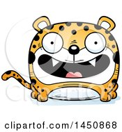 Clipart Graphic Of A Cartoon Smiling Leopard Character Mascot Royalty Free Vector Illustration by Cory Thoman