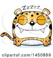 Clipart Graphic Of A Cartoon Sleeping Leopard Character Mascot Royalty Free Vector Illustration by Cory Thoman