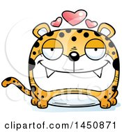 Clipart Graphic Of A Cartoon Loving Leopard Character Mascot Royalty Free Vector Illustration by Cory Thoman