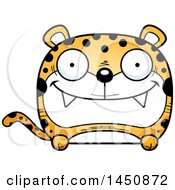 Clipart Graphic Of A Cartoon Happy Leopard Character Mascot Royalty Free Vector Illustration by Cory Thoman