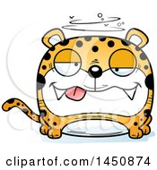 Clipart Graphic Of A Cartoon Drunk Leopard Character Mascot Royalty Free Vector Illustration by Cory Thoman