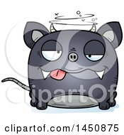 Clipart Graphic Of A Cartoon Drunk Chupacabra Character Mascot Royalty Free Vector Illustration by Cory Thoman
