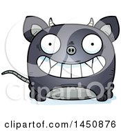 Clipart Graphic Of A Cartoon Grinning Chupacabra Character Mascot Royalty Free Vector Illustration by Cory Thoman