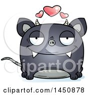 Clipart Graphic Of A Cartoon Loving Chupacabra Character Mascot Royalty Free Vector Illustration by Cory Thoman