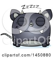 Clipart Graphic Of A Cartoon Sleeping Chupacabra Character Mascot Royalty Free Vector Illustration by Cory Thoman