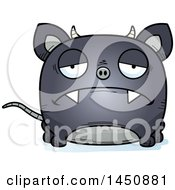 Clipart Graphic Of A Cartoon Sad Chupacabra Character Mascot Royalty Free Vector Illustration by Cory Thoman