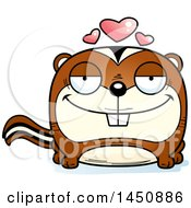 Clipart Graphic Of A Cartoon Loving Chipmunk Character Mascot Royalty Free Vector Illustration by Cory Thoman