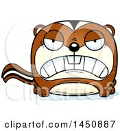 Clipart Graphic Of A Cartoon Mad Chipmunk Character Mascot Royalty Free Vector Illustration by Cory Thoman