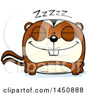 Clipart Graphic Of A Cartoon Sleeping Chipmunk Character Mascot Royalty Free Vector Illustration by Cory Thoman