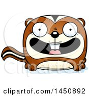 Clipart Graphic Of A Cartoon Smiling Chipmunk Character Mascot Royalty Free Vector Illustration by Cory Thoman