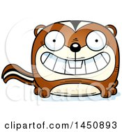 Clipart Graphic Of A Cartoon Grinning Chipmunk Character Mascot Royalty Free Vector Illustration by Cory Thoman
