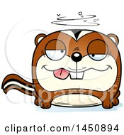 Clipart Graphic Of A Cartoon Drunk Chipmunk Character Mascot Royalty Free Vector Illustration by Cory Thoman