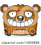 Clipart Graphic Of A Cartoon Grinning Bear Character Mascot Royalty Free Vector Illustration by Cory Thoman
