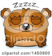 Clipart Graphic Of A Cartoon Sleeping Bear Character Mascot Royalty Free Vector Illustration by Cory Thoman