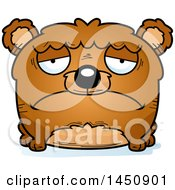 Clipart Graphic Of A Cartoon Sad Bear Character Mascot Royalty Free Vector Illustration by Cory Thoman