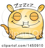 Clipart Graphic Of A Cartoon Sleeping Aardvark Character Mascot Royalty Free Vector Illustration