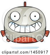 Clipart Graphic Of A Cartoon Grinning Piranha Fish Character Mascot Royalty Free Vector Illustration