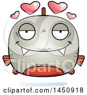 Clipart Graphic Of A Cartoon Loving Piranha Fish Character Mascot Royalty Free Vector Illustration by Cory Thoman