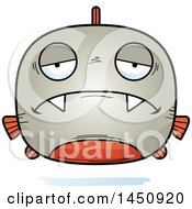 Clipart Graphic Of A Cartoon Sad Piranha Fish Character Mascot Royalty Free Vector Illustration by Cory Thoman