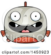 Clipart Graphic Of A Cartoon Happy Piranha Fish Character Mascot Royalty Free Vector Illustration by Cory Thoman
