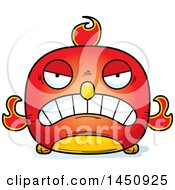 Clipart Graphic Of A Cartoon Mad Phoenix Character Mascot Royalty Free Vector Illustration