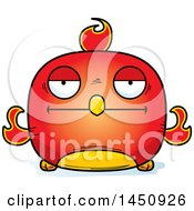 Clipart Graphic Of A Cartoon Bored Phoenix Character Mascot Royalty Free Vector Illustration