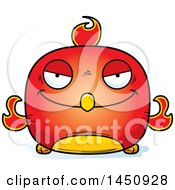 Clipart Graphic Of A Cartoon Evil Phoenix Character Mascot Royalty Free Vector Illustration by Cory Thoman